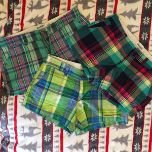 Women's Plaid Shorts - Set of 3